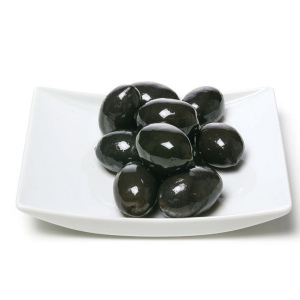 Black oxidized olives whole